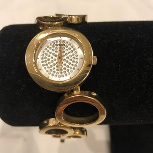 Fossil Gold and diamonds linked Watch GUC